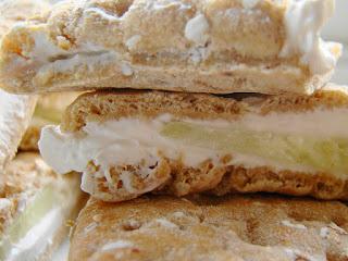 sandwich au concombre à la crème, vegan