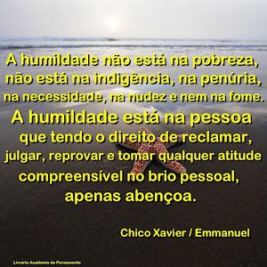 A humildade!