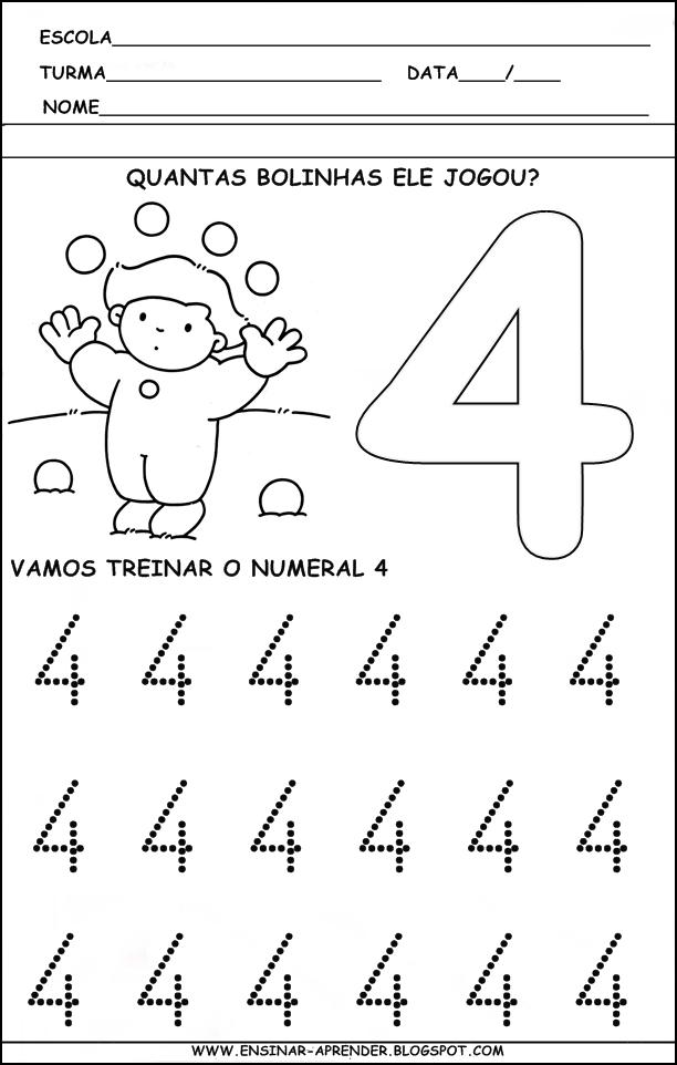 Extremamente ATIVIDADES PARA TREINO DA ESCRITA DOS NUMERAIS DE 1 A 5 | Cantinho  AQ56