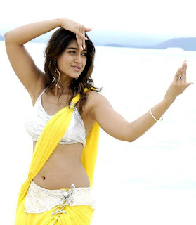 Ileana in Yellow Half saree White Choli Stunning Beauty Beach Side Pics
