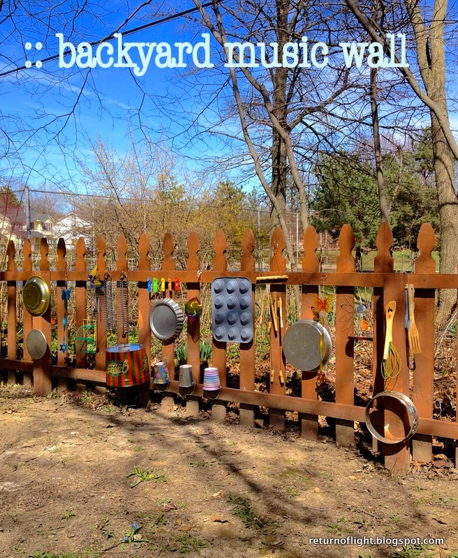Backyard Music System return of light: backyard music wall!