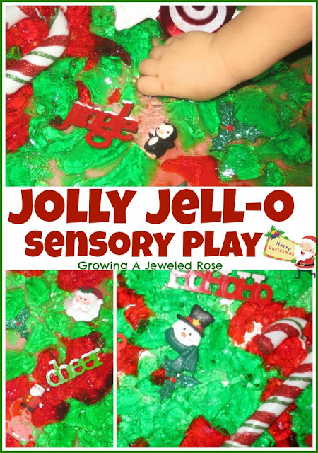 Christmas Activities- Jolly Jello sensory play