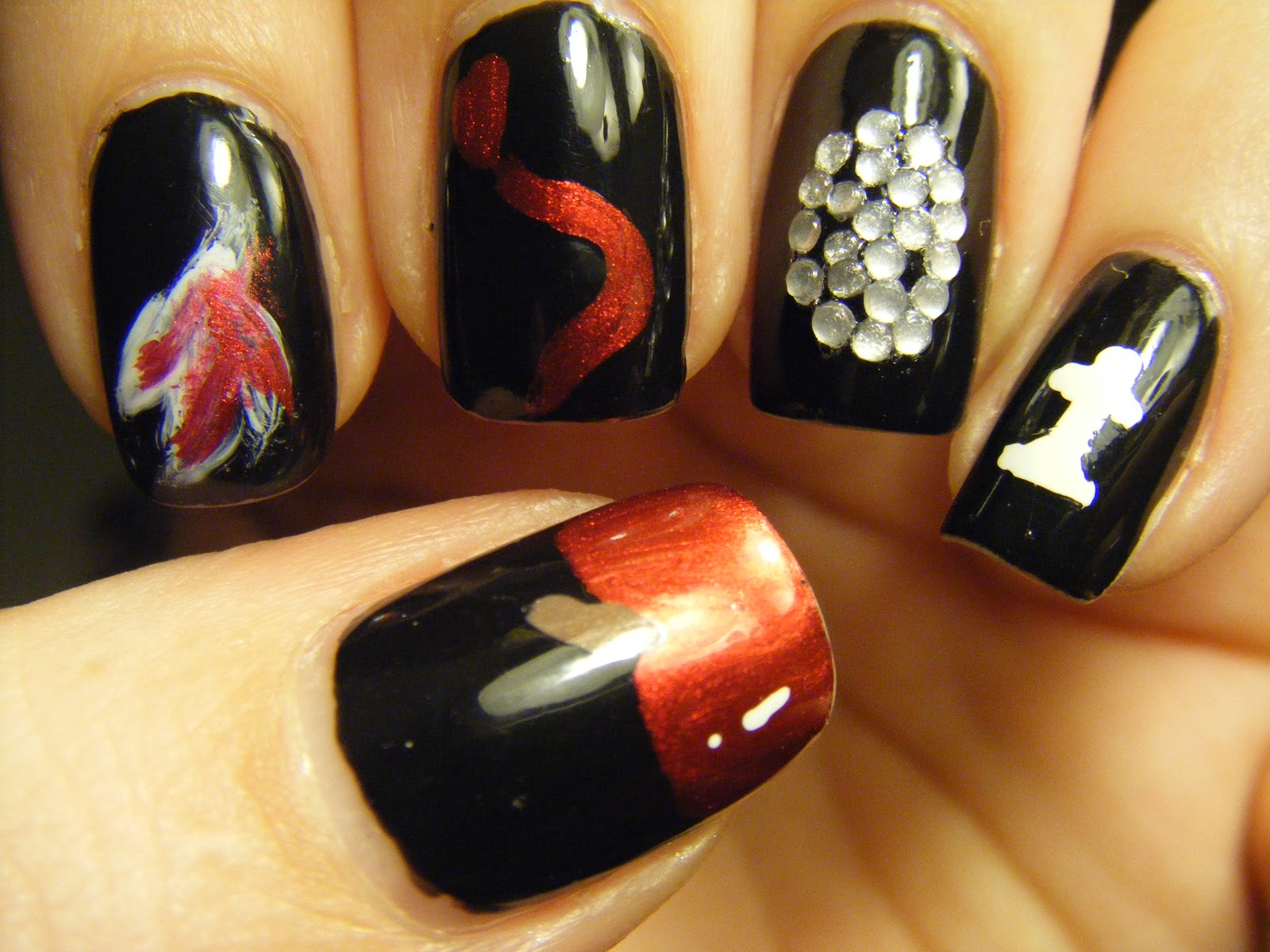 No nekkid nails twilight saga themed mani twilight saga themed mani prinsesfo Gallery
