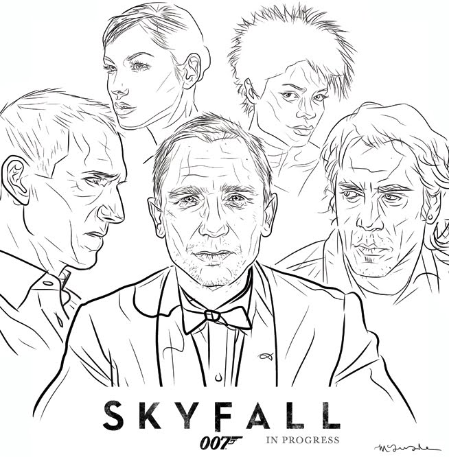 james bond coloring pages characters - photo#8