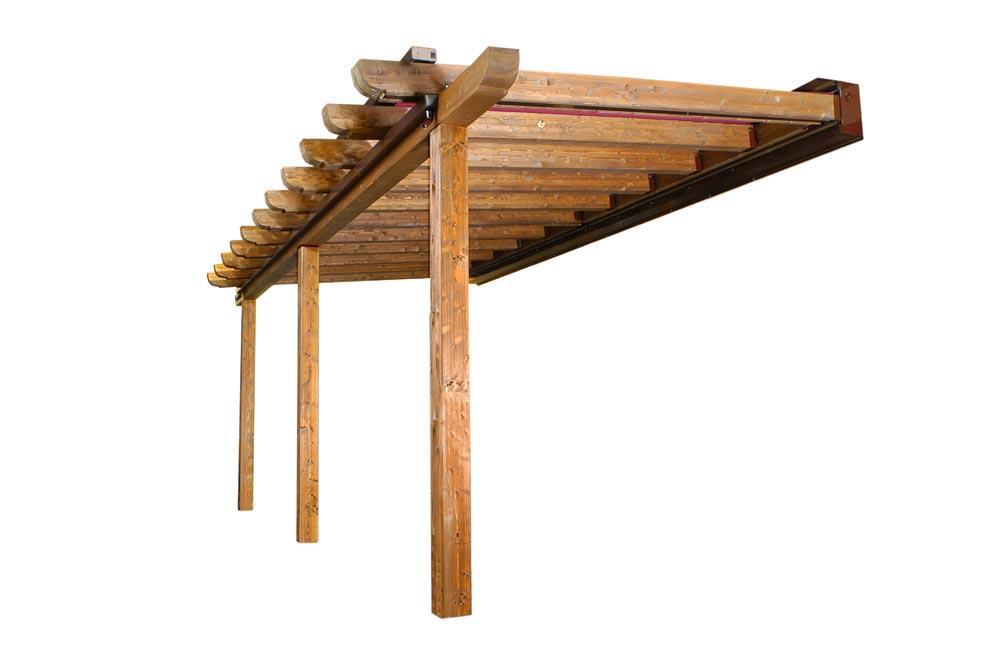 Ejemplo de dise o de pergola de madera gerardo requena - Diseno de pergolas de madera ...