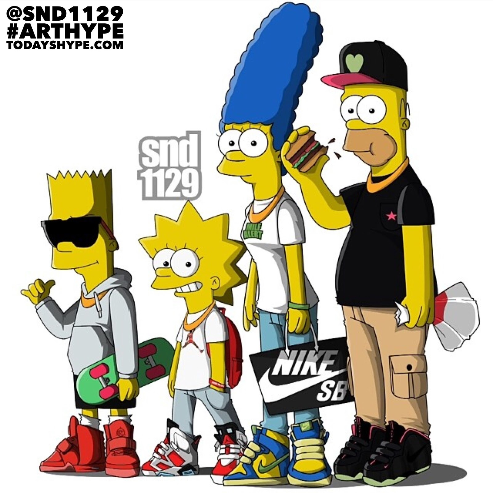 The Simpsons Illustrated In Supreme Off White Bape Nike together with Cartoon Streetwear likewise I M Nothing To Play With 313449145 further 2014 04 01 archive likewise Son Goku X Fat Tiger Red Timberland Bee. on dope cartoon characters wearing supreme