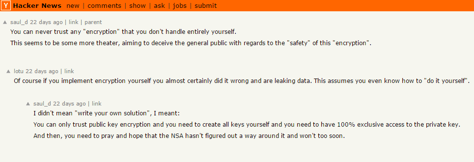 Hacker News, Josh Wieder, Ycombinator, encryption