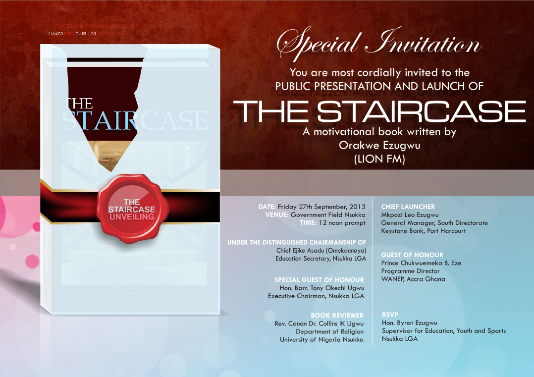 Old Potrix Blog Public Invitation Book Launching The Staircase