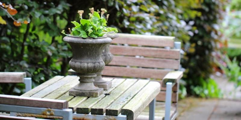 Haven i Hune, terrassen ved huset