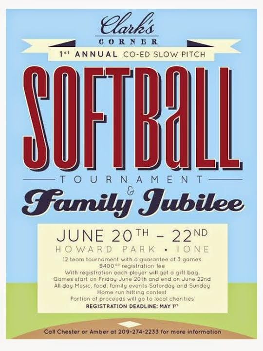 Softball Tournament & Family Jubilee - June 20-22