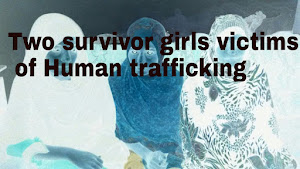 Two survivor girls victims of Human trafficking