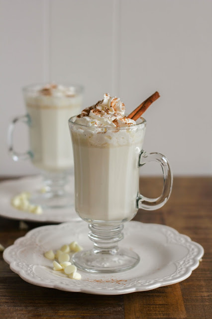 Spiced White Hot Chocolate | The Chef Next Door #MilkMeansMore