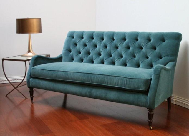 Peacock Blue Tufted Sofa by Lindakdesign on Flirck