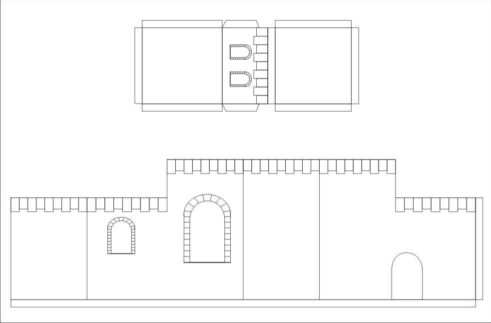 Elkin creaciones casita tipo bel n para pesebre - Casitas para pesebre de carton ...