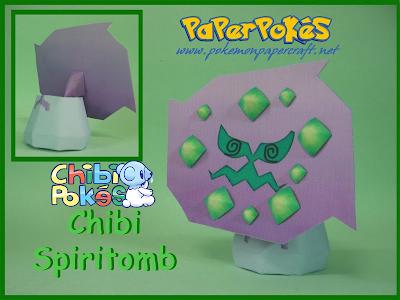 Pokemon Chibi Spiritomb Papercraft