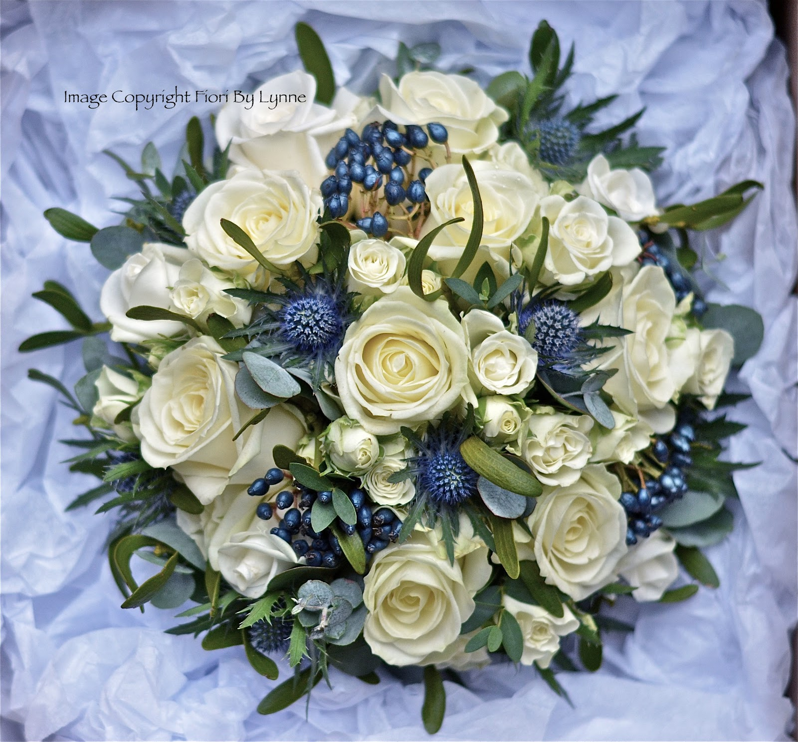Wedding Flowers Blog Laura s Christmas Wedding Flowers Roses and Thistles