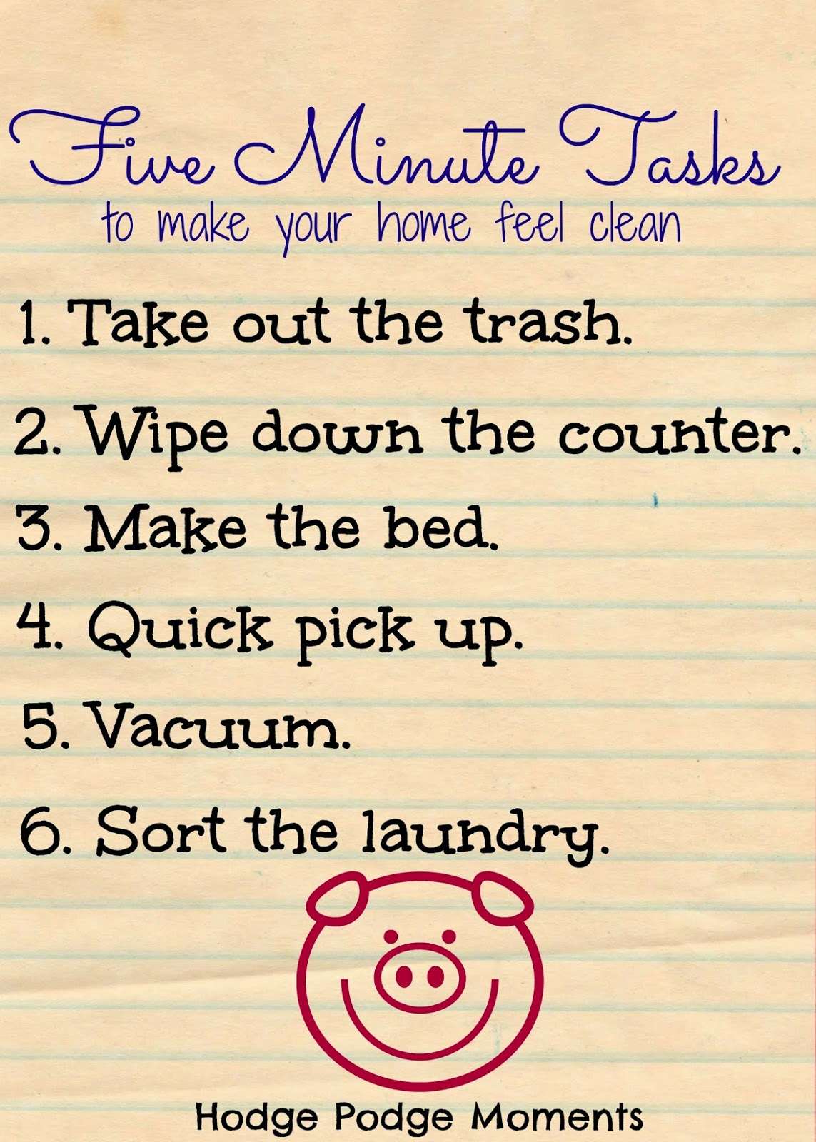 5 Minute Tasks To Make Your Home Feel Clean