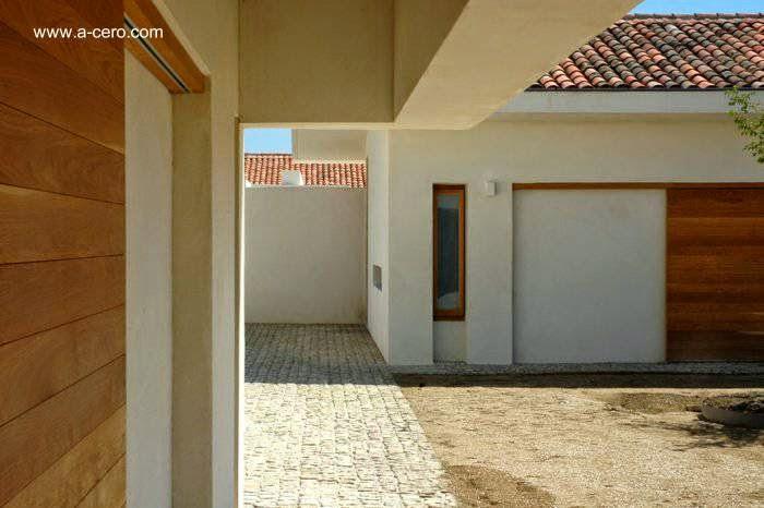 Vista de un sector del conjunto arquitectónico en la moderna hacienda