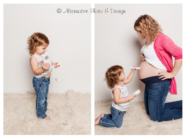 Adorable {A} Turns 2 & Is Going to Be a Big Sister | Family Photographer Janesville, WI