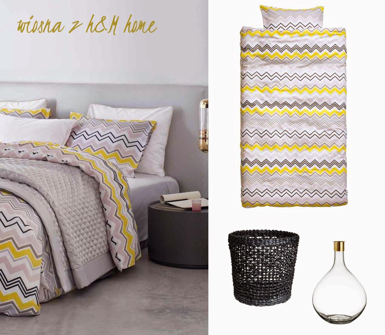 Dacon-Design-wnetrza-HM-Home-wiosna-len-pastele-zolty-szary-posciel-sypialnia