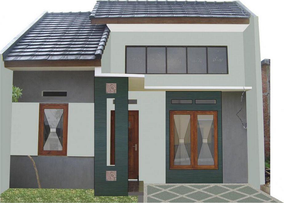 foto sketsa rumah sederhana 1 lt tampak depan
