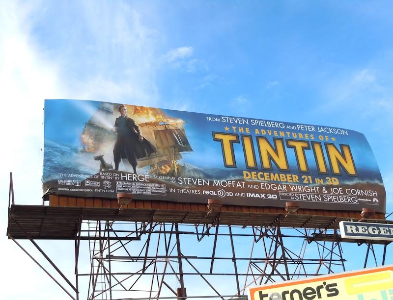 Tintin movie billboard