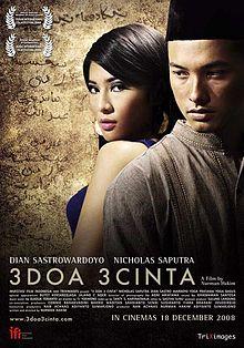 download film 3 doa 3 cinta dian sastrowardoyo nicholas saputra
