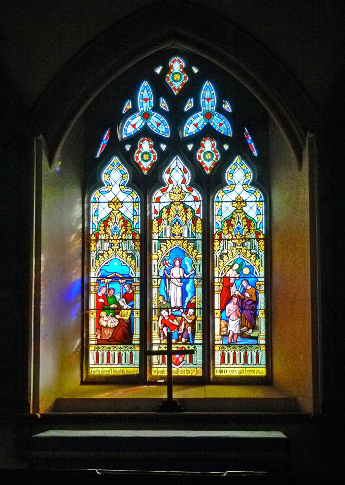 Ashby St Ledger, stained glass, east window