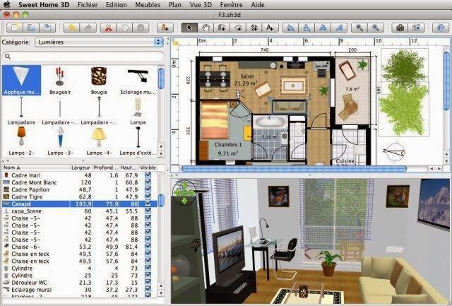 برنامج تصميم ديكورات المنازل Sweet Home 3D