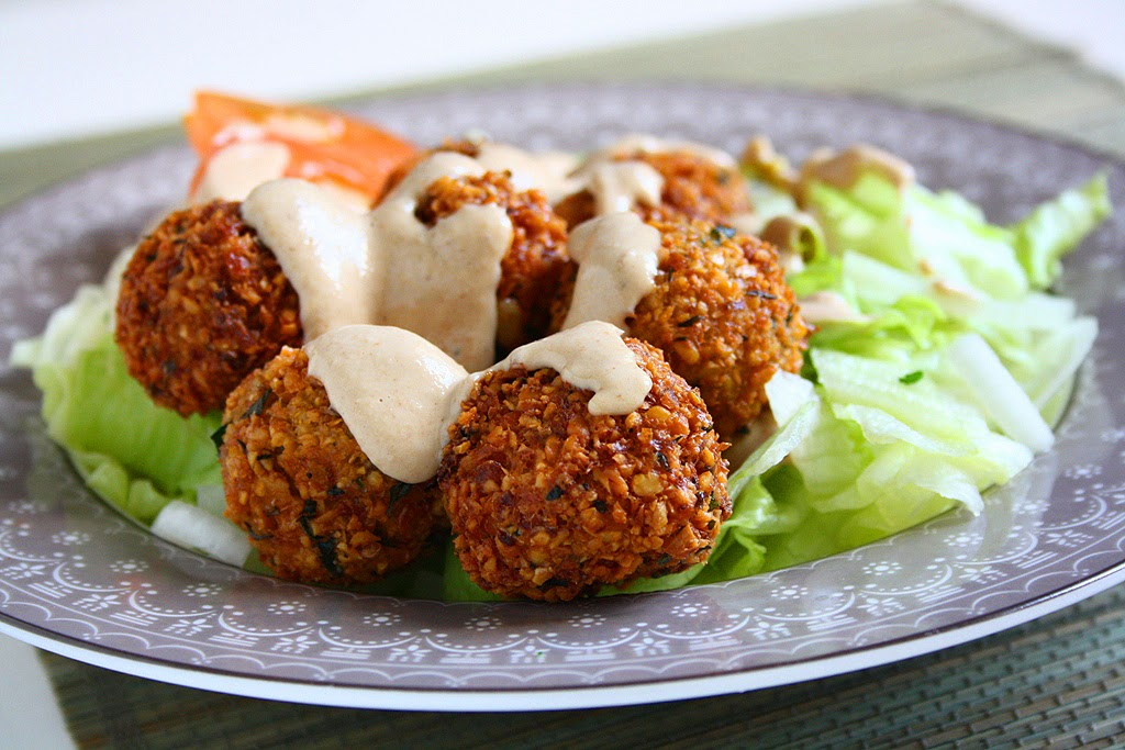 Falafel With Garlic Tahini Sauce Recipes — Dishmaps