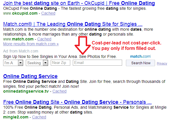 dating site pay per lead