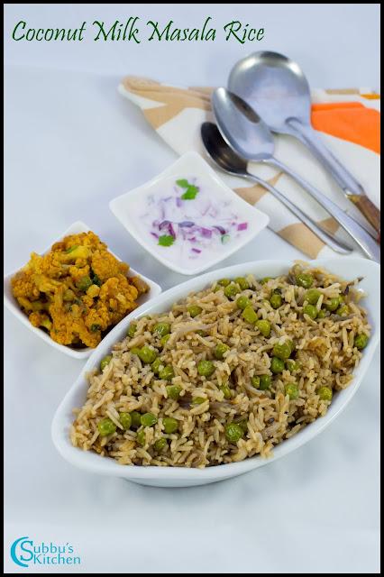 Coconut Milk Masala Rice(Thengai Paal sandham)