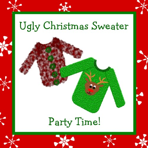 Ugly Sweater Invite Wording for good invitation example