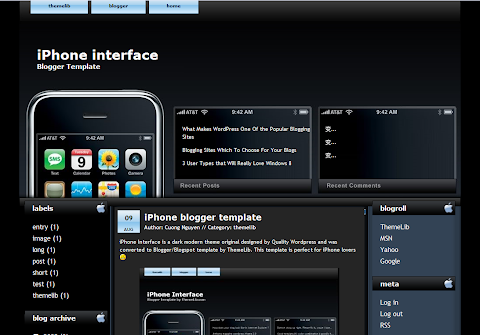 iPhone Interface Blogger Theme