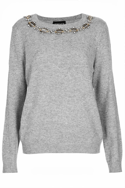 grey necklace jumper
