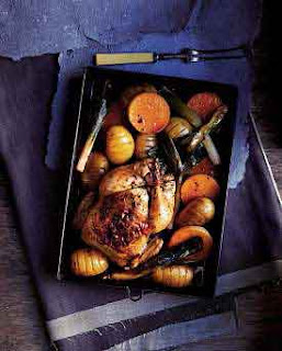 Whole Roast Chicken With Vegetables