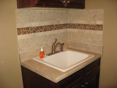 Broken Ceramic Tile Mosaic Backsplash