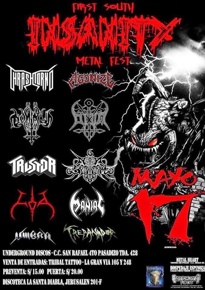 Festival de Metal Insanity - 17 de mayo