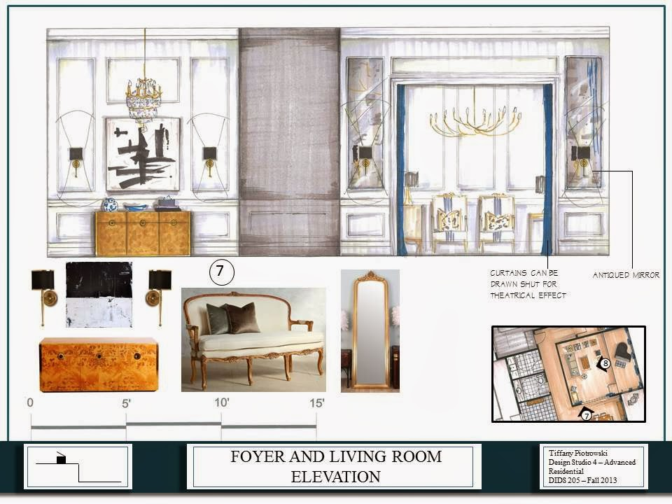 Tiffany leigh interior design term 5 final project for Residential interior design