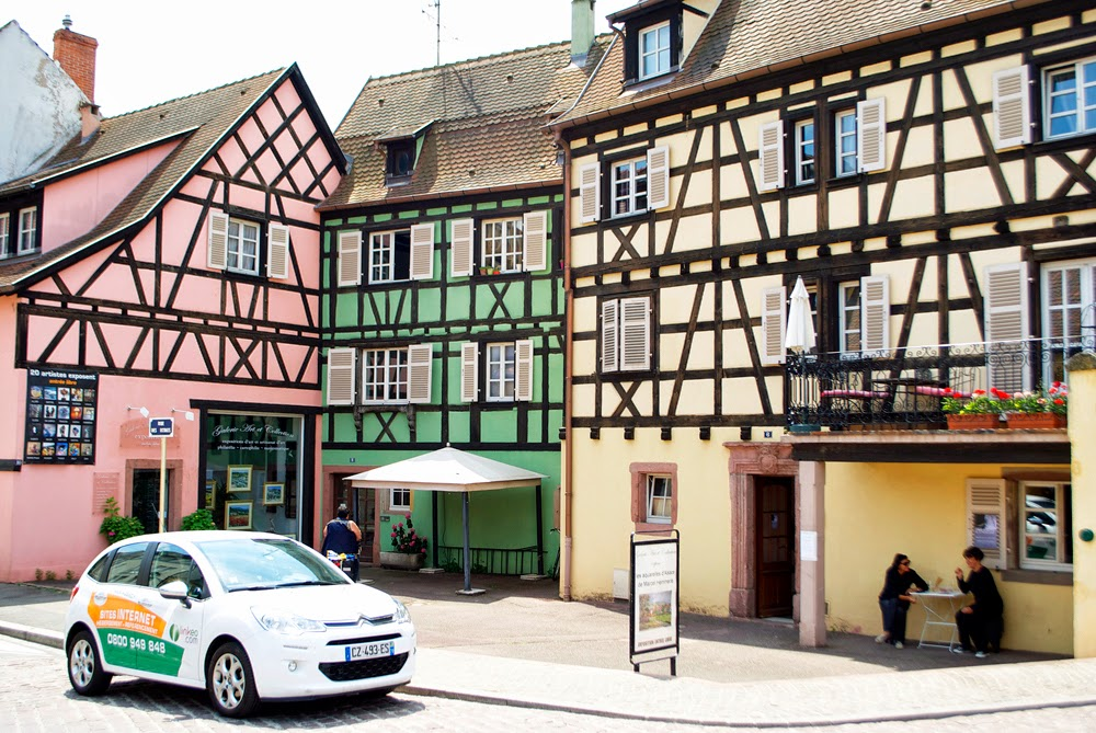 timber houses in colmar
