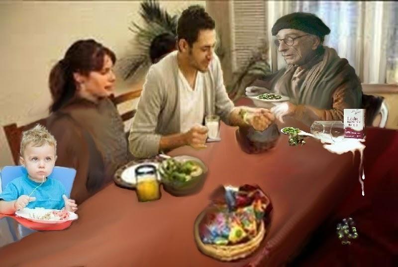 El Tazón De Madera  Abuelo+comiendo+con+familia