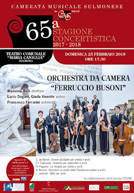 SULMONA - 65^ STAGIONE CONCERTISTICA CAMERATA MUSICALE SULMONESE