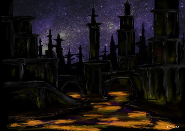 http://sanitycleaver.deviantart.com/art/Quake-Redux-Yuggoth-skyline-133313678