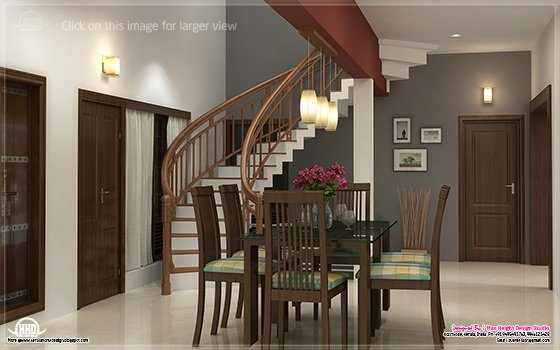 Home interior design ideas house design plans for Dining room designs kerala