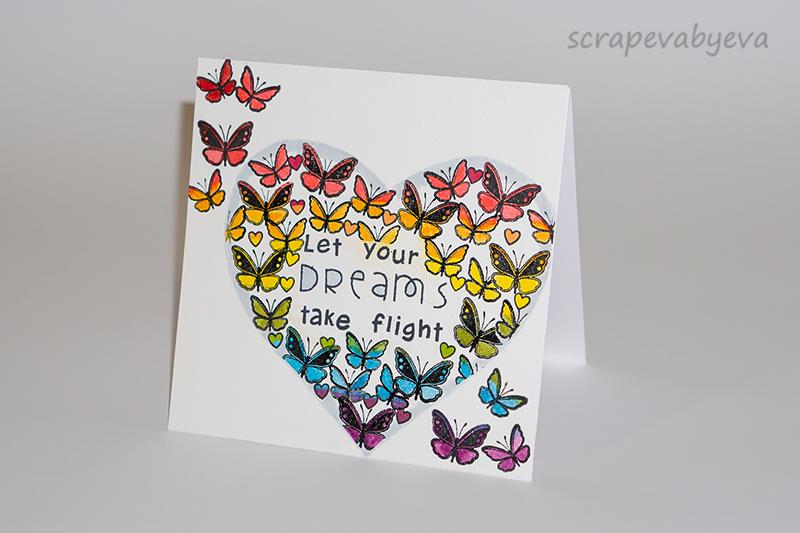 ScRapEva by Eva: Mariposas con corazón/ Butterflies with heart