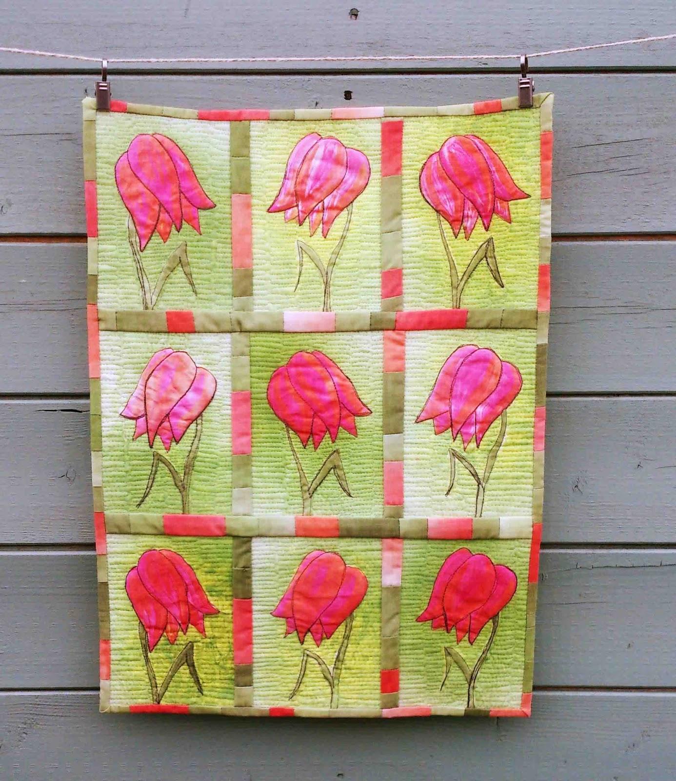 tulip art quilt