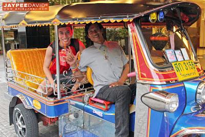 Tuktuk ride, Bangkok, Thailand, BKK