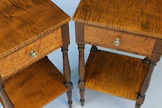tiger maple curly maple birdseye maple bedside tables and nightstands