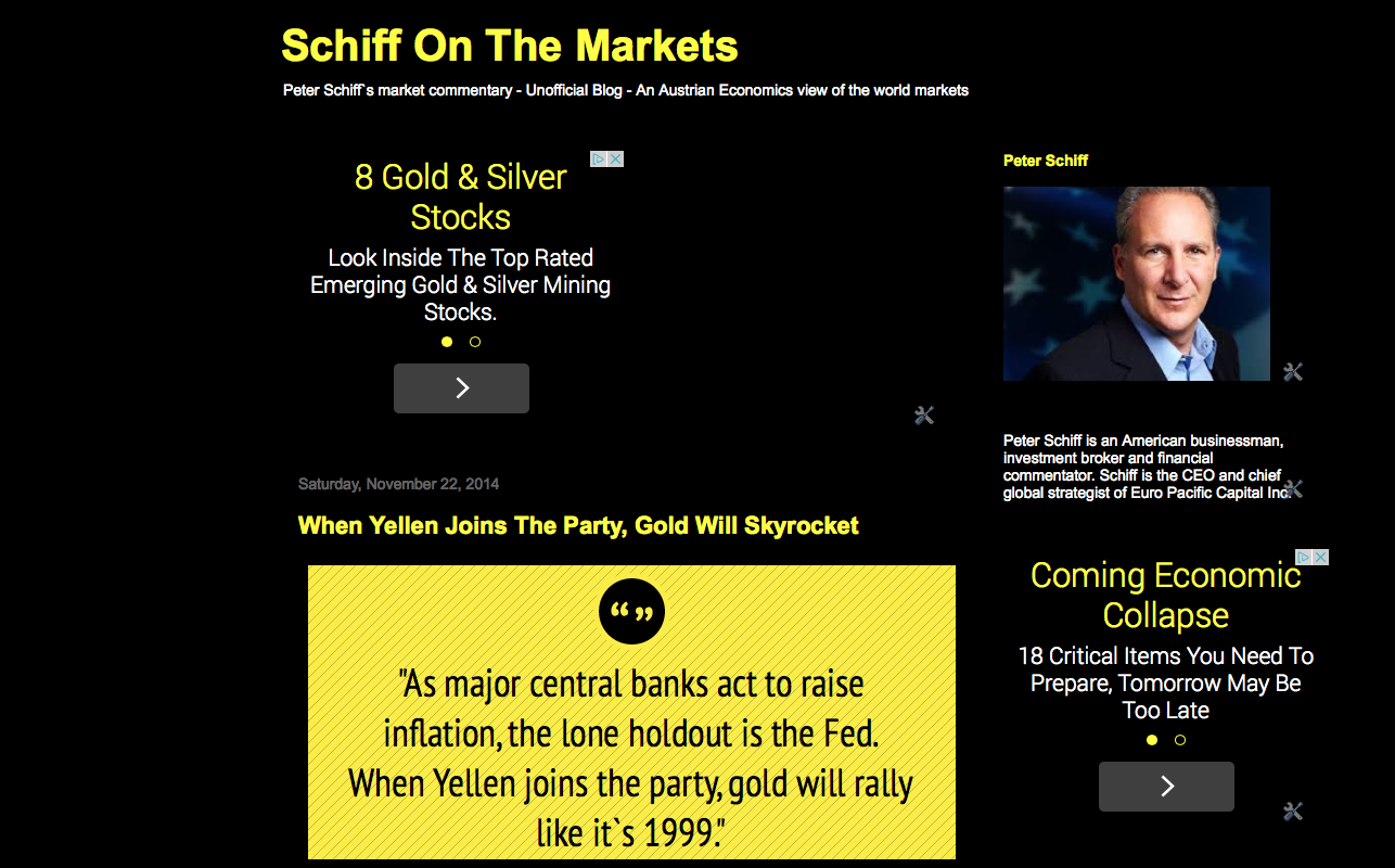 Peter Schiff On The Markets: