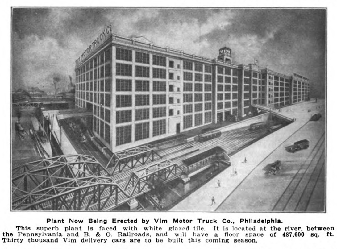 Philly stuff vim motor truck factory north market for Roosevelt motor inn philadelphia pa